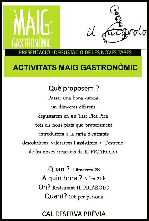 Activitat Maig Gastronòmic